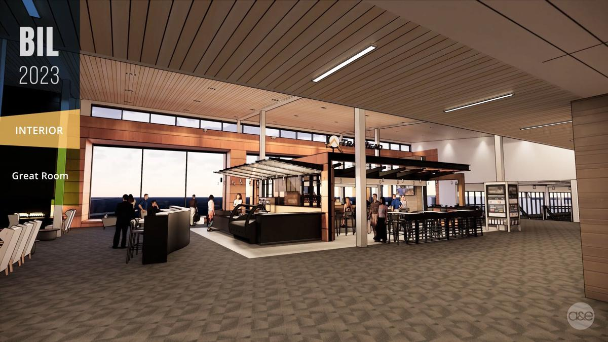 Billings Logan International Airport expansion — Great Room
