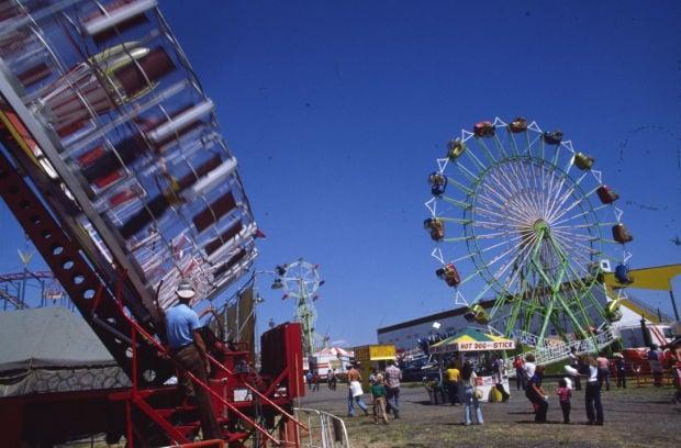 Rides at fair, 1980