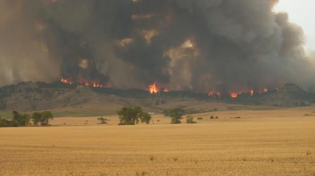 The Dugan fire near Ekalaka