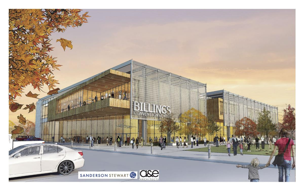 Rendering of convention center near the Radisson Hotel