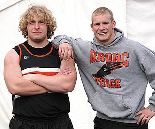 Jimmy Stanton, Evan Wilson latest in long line of bronc shot put, discus standouts