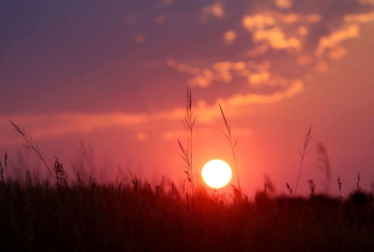 The sun sets over Swords Rimrock Park