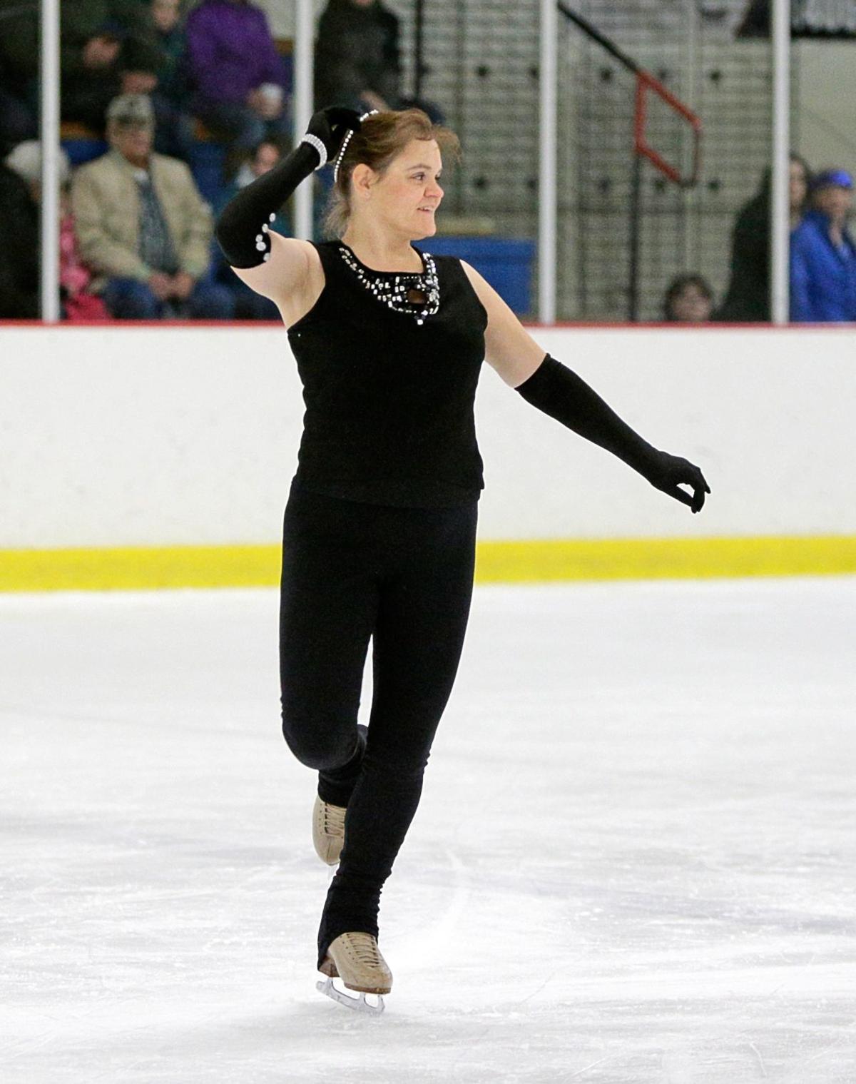 Cathy Goettel skates