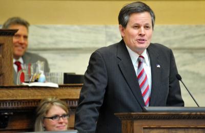 U.S. Rep. Steve Daines, R-Mont., speaking to the Montana Legislature