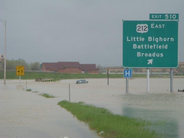 Flooded interchange