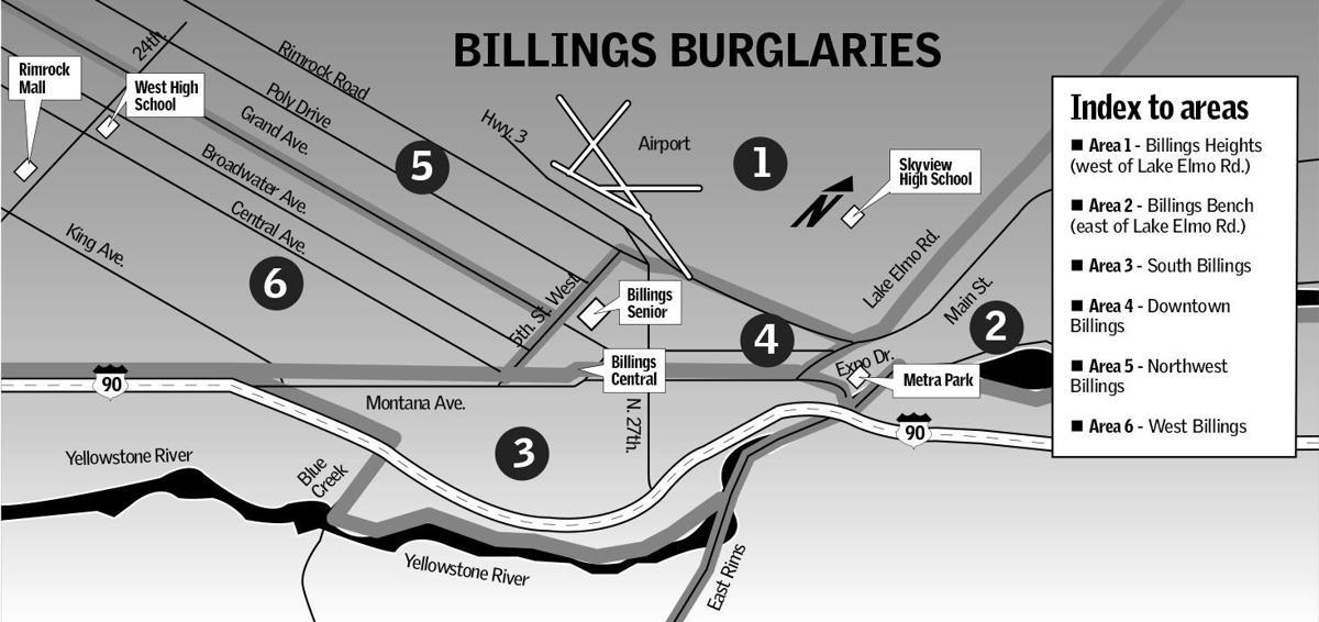 Billings area map
