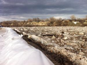 Authorities say Bighorn River ice jam flooding problem should be solved
