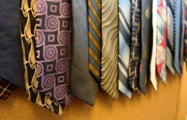 Ties in the Suit Up room