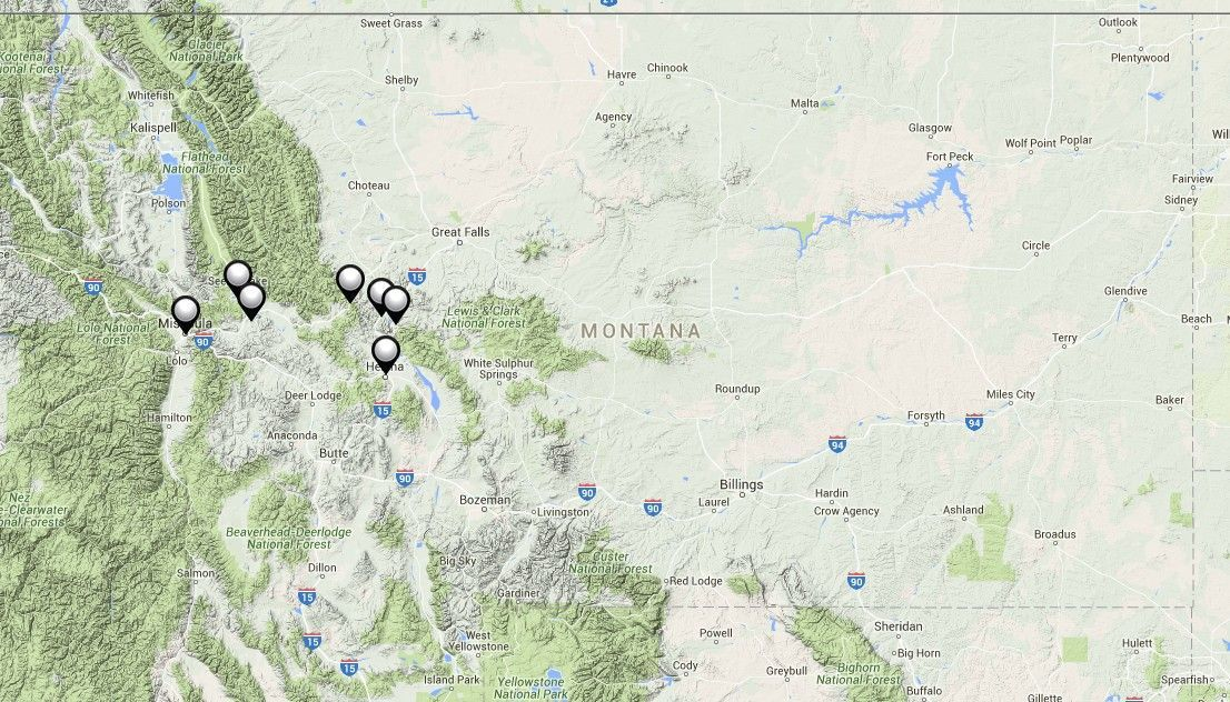 Ashland Montana Map.Interactive Map Highlights Diverse Settings For Montana Books