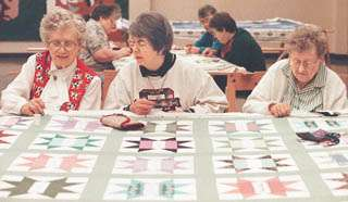 Quilters stitch therapy into their blankets