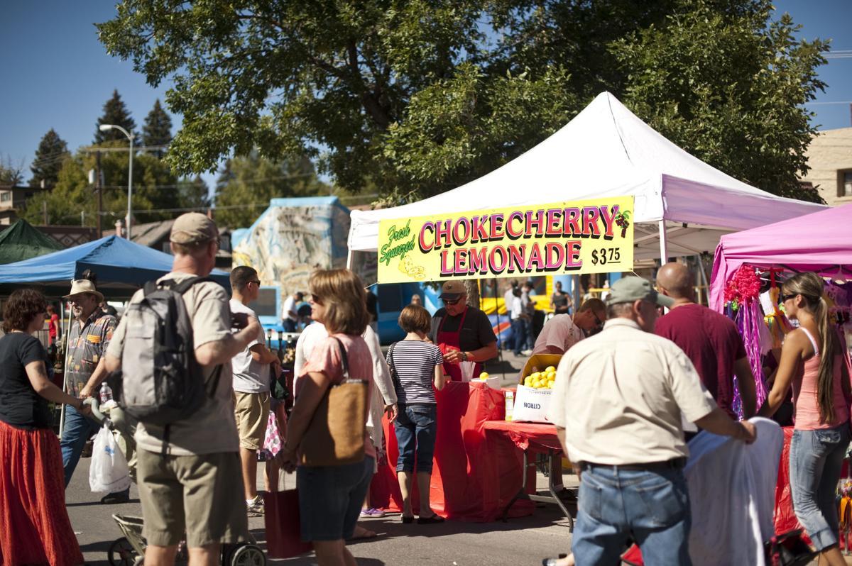 Chokecherry Festival booths