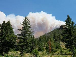 Fire near Yellowstone's East Entrance caused by lightning