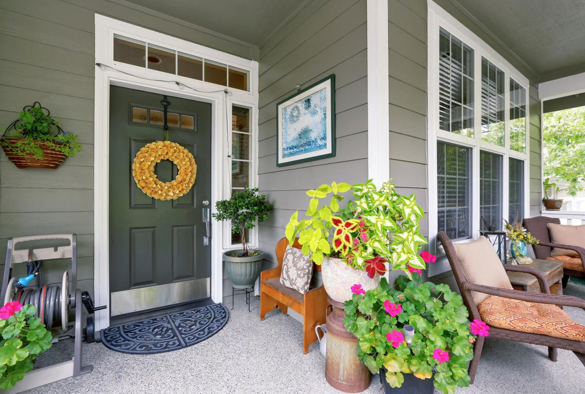 Cozy entrance porch