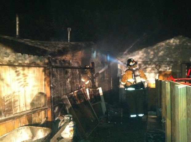 Billings firefighters respond to a fire on North 15th Street