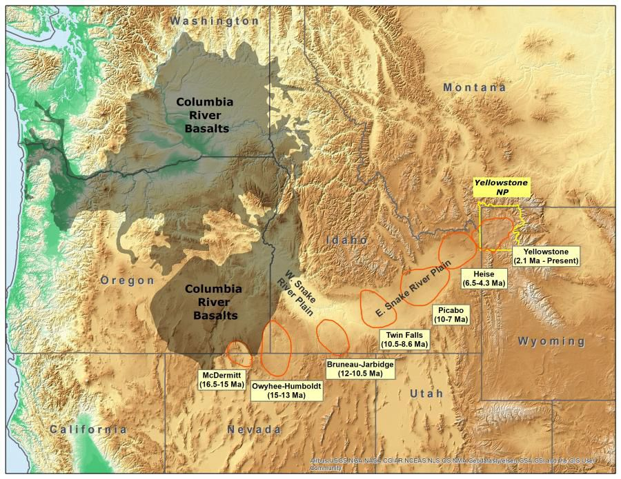 Image of: Tracking The Yellowstone Hotspot Across The Northwest Montana Untamed Billingsgazette Com