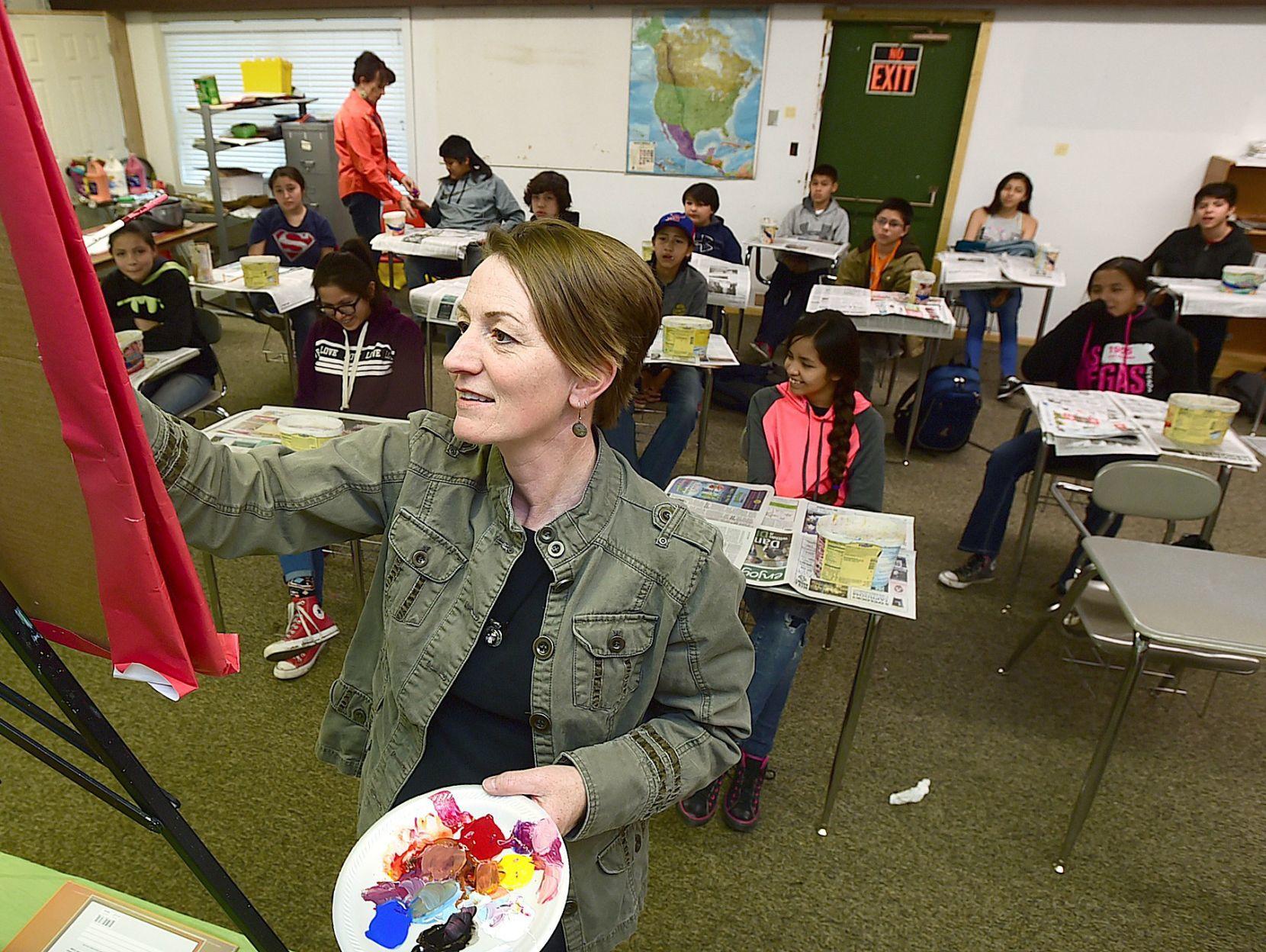 reservation school gets a new building for art classes crow culture rh billingsgazette com