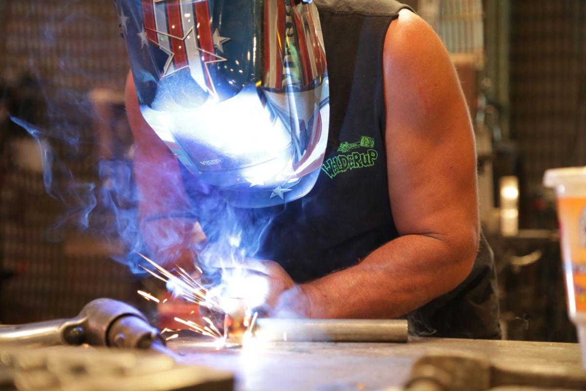 Steve Darnell welding