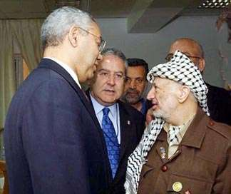 Israel moves into Palestinian neighborhood; Powell ends mission
