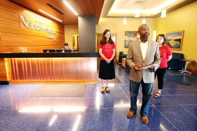Wilmot Collins delivers a protest letter to NorthWestern Energy