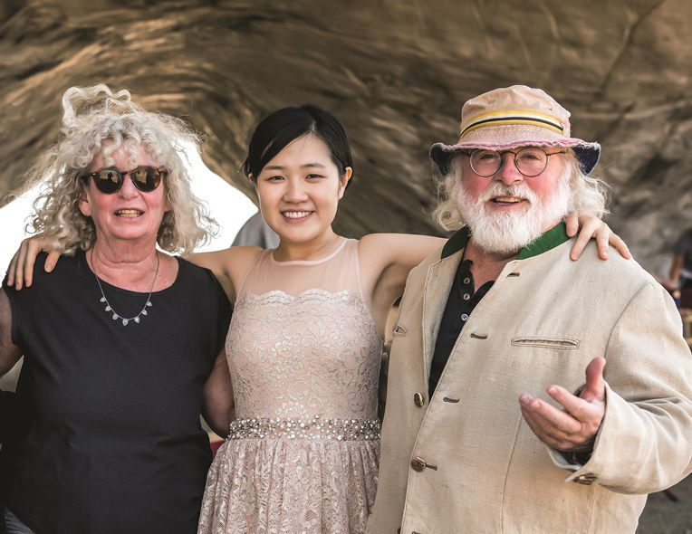 Cathy and Peter Halstead, Jenny Chen