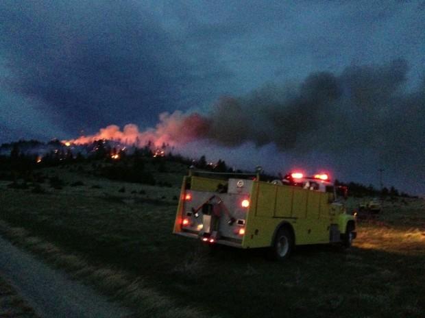 Canyon Ferry fire