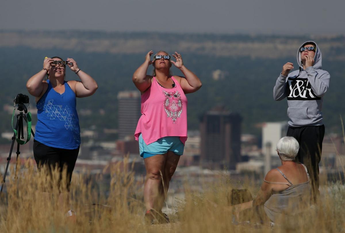 Eclipse viewing at Four Dances