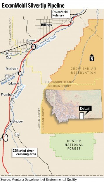 ExxonMobil places pipeline deeper at river crossings | Montana News on texas pipeline map, yellowstone pipeline company, everglades pipeline map, montana pipeline map, oil pipeline map, michigan pipeline map, alaskan pipeline map, conoco pipeline map, yellowstone gas pipeline, new york pipeline map, transcontinental pipeline map, alaska pipeline map, north slope pipeline map, mexico pipeline map, yellowstone volcano location, chicago pipeline map, tennessee pipeline map, florida pipeline map, marathon pipeline map, keystone xl pipeline map,