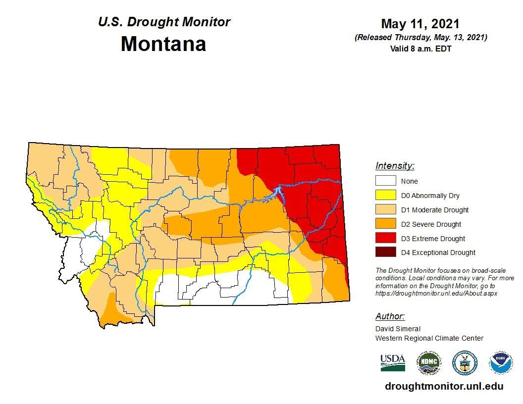 Montana drought conditions