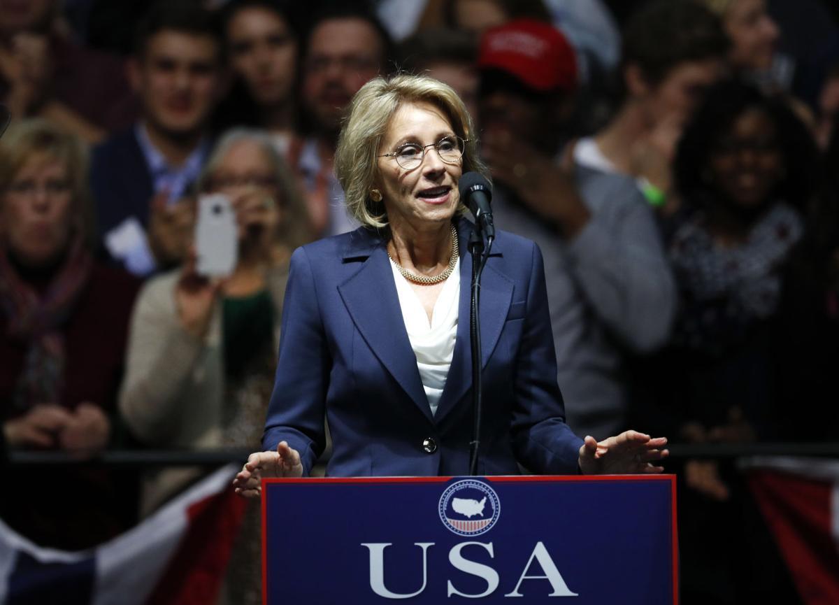 Betsy DeVos, selected for Education Secretary