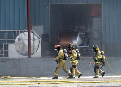 Firefighters enter Cross Petroleum