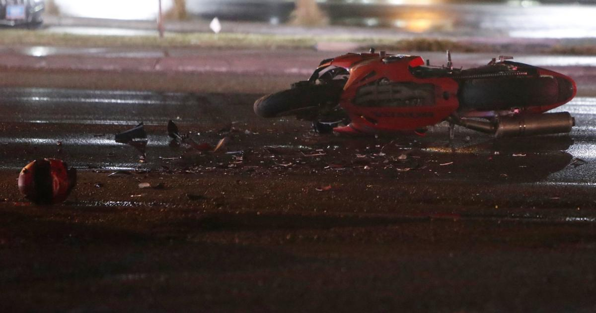 West End vehicle collision sends motorcyclist to hospital