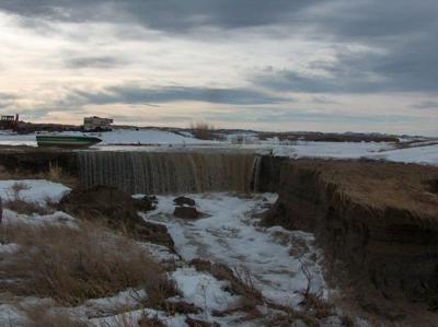 Musselshell River flooding