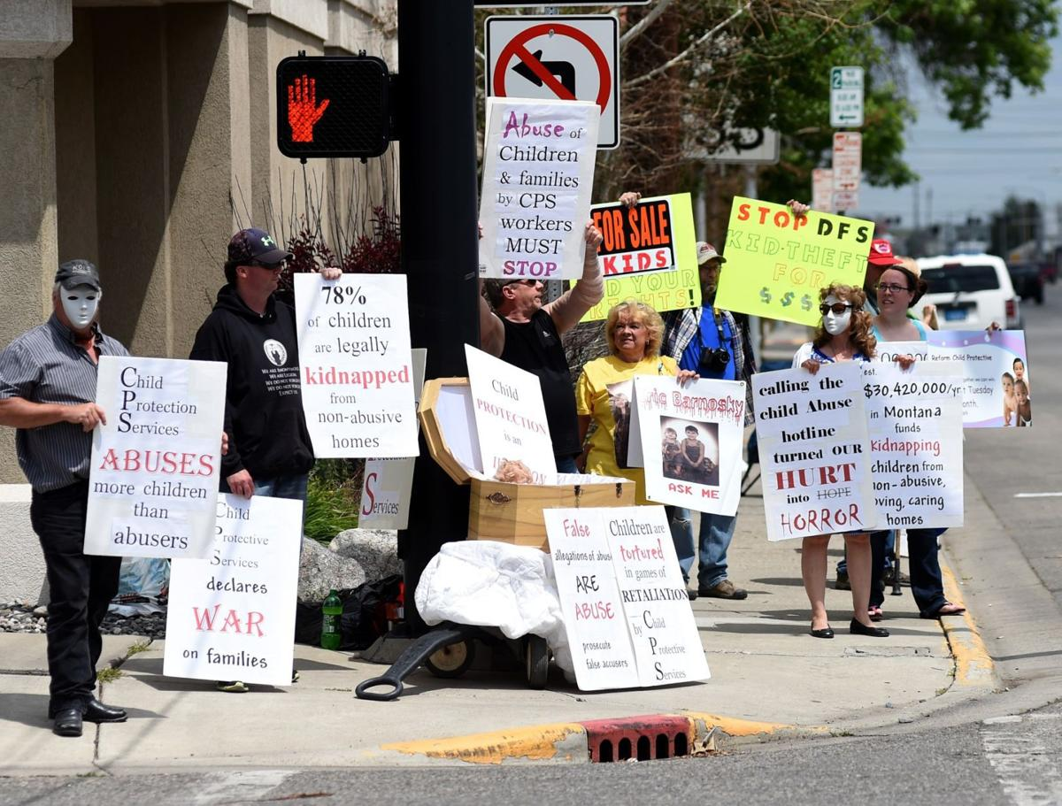 Group pickets in front of Child Protective Services in