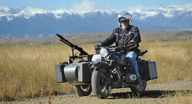 Bob Clement test drives a World War II German motorcycle
