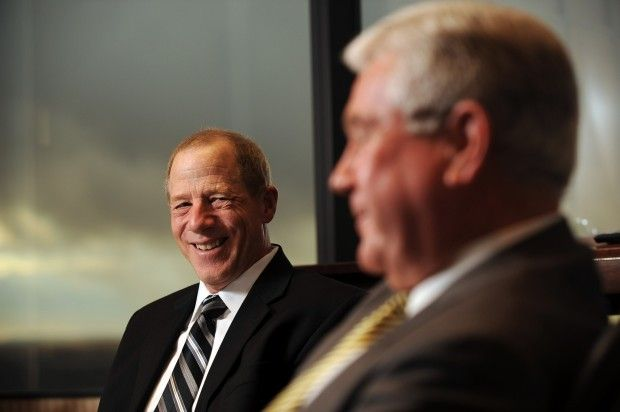 First Interstate Bank CEO Lyle Knight, right, is retiring and wi