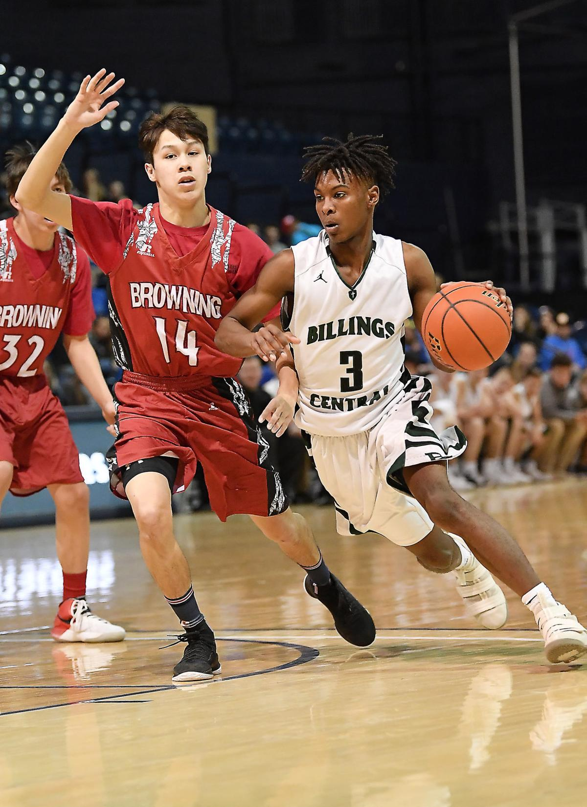 Billings Central vs. Browning Class A boys