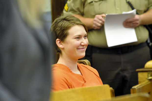 Angelica Gray smiles after her initial hearing
