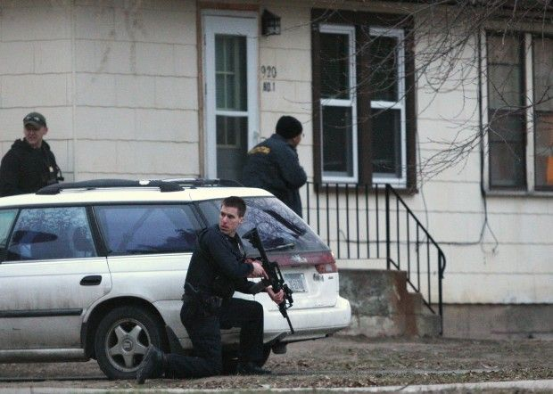 Billings Police surround a home on Custer Avenue