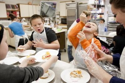 Mills Elementary School first-grader Stephen Grey