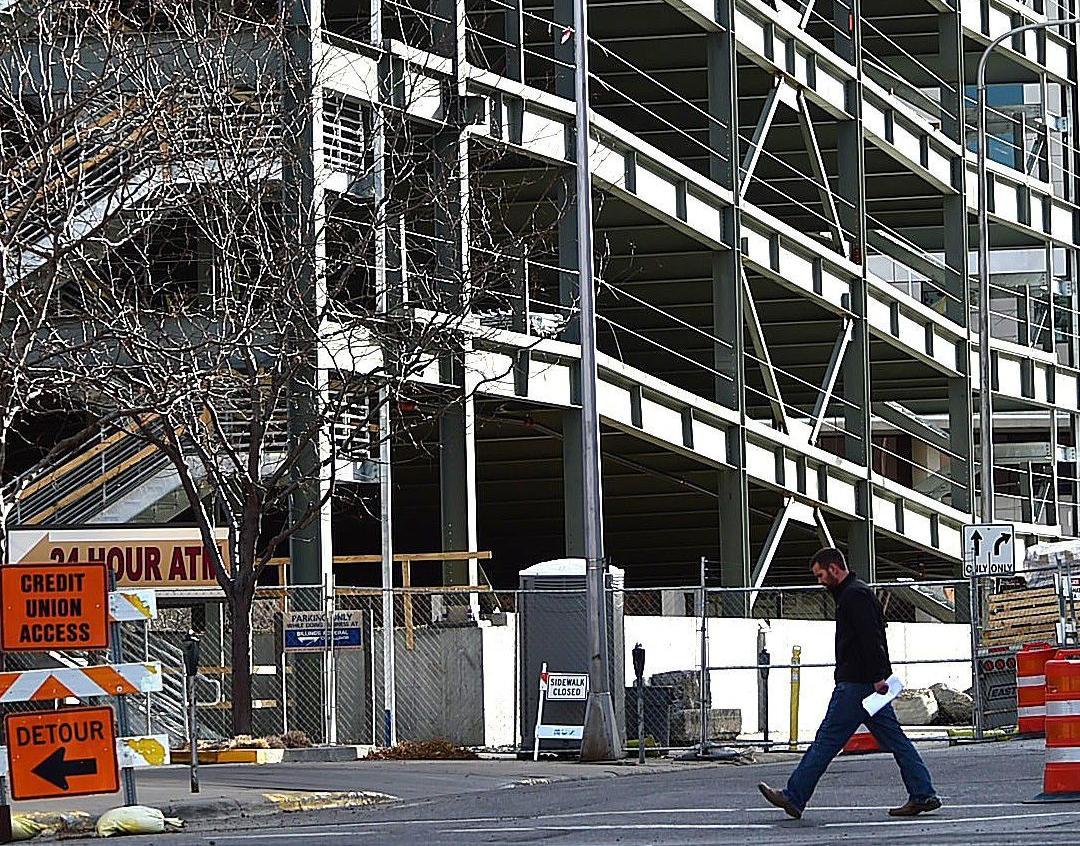 Work on Stillwater parking garage in downtown Billings slows down for the season