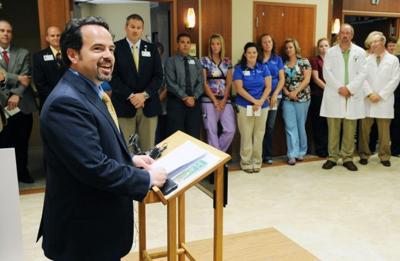 Jason Barker, president/CEO of Saint Vincent Healthcare, speaks