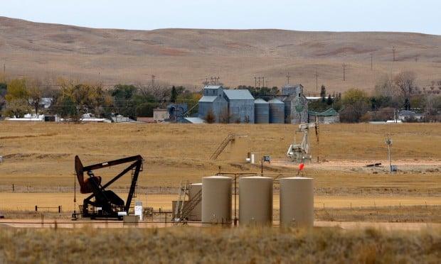An oil well pumps