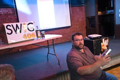 Montana Tavern Association president Dax Cetraro gives a tutorial on using SWIG 406,