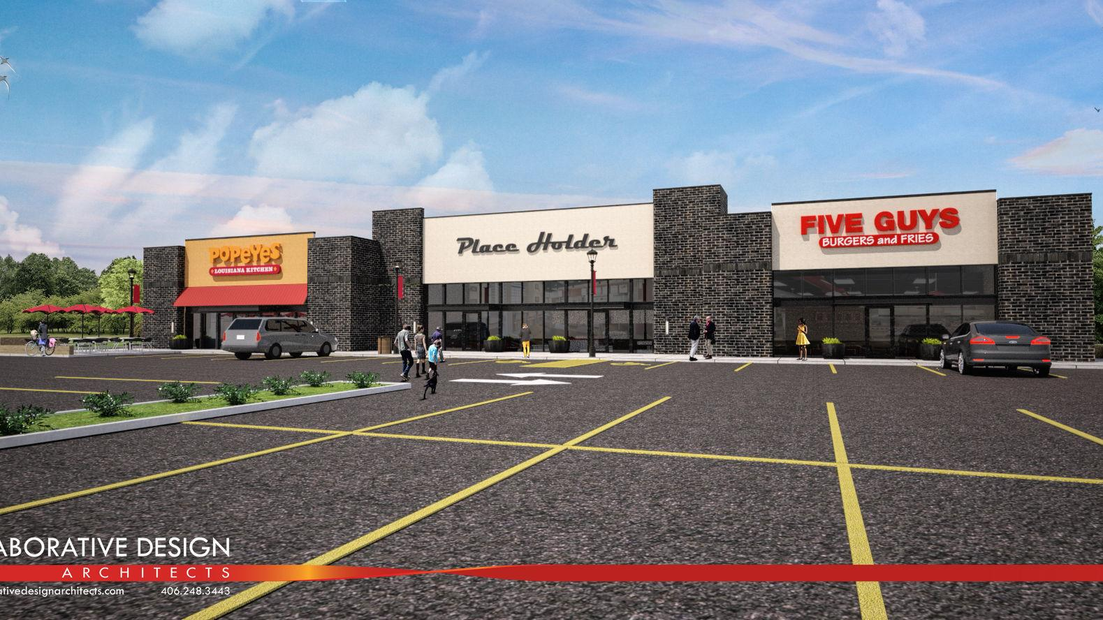 Popeyes Louisiana Kitchen Building five guys burgers, popeyes coming to shiloh crossing in billings