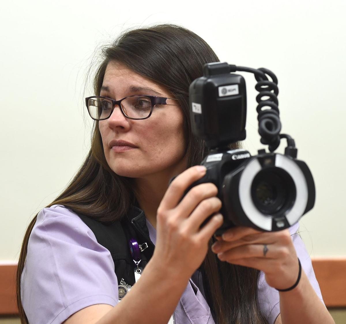 SANE nurse with camera