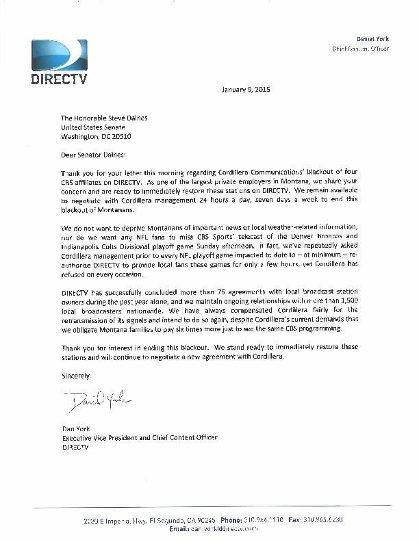Daines calls on station owner, DirecTV to return CBS to