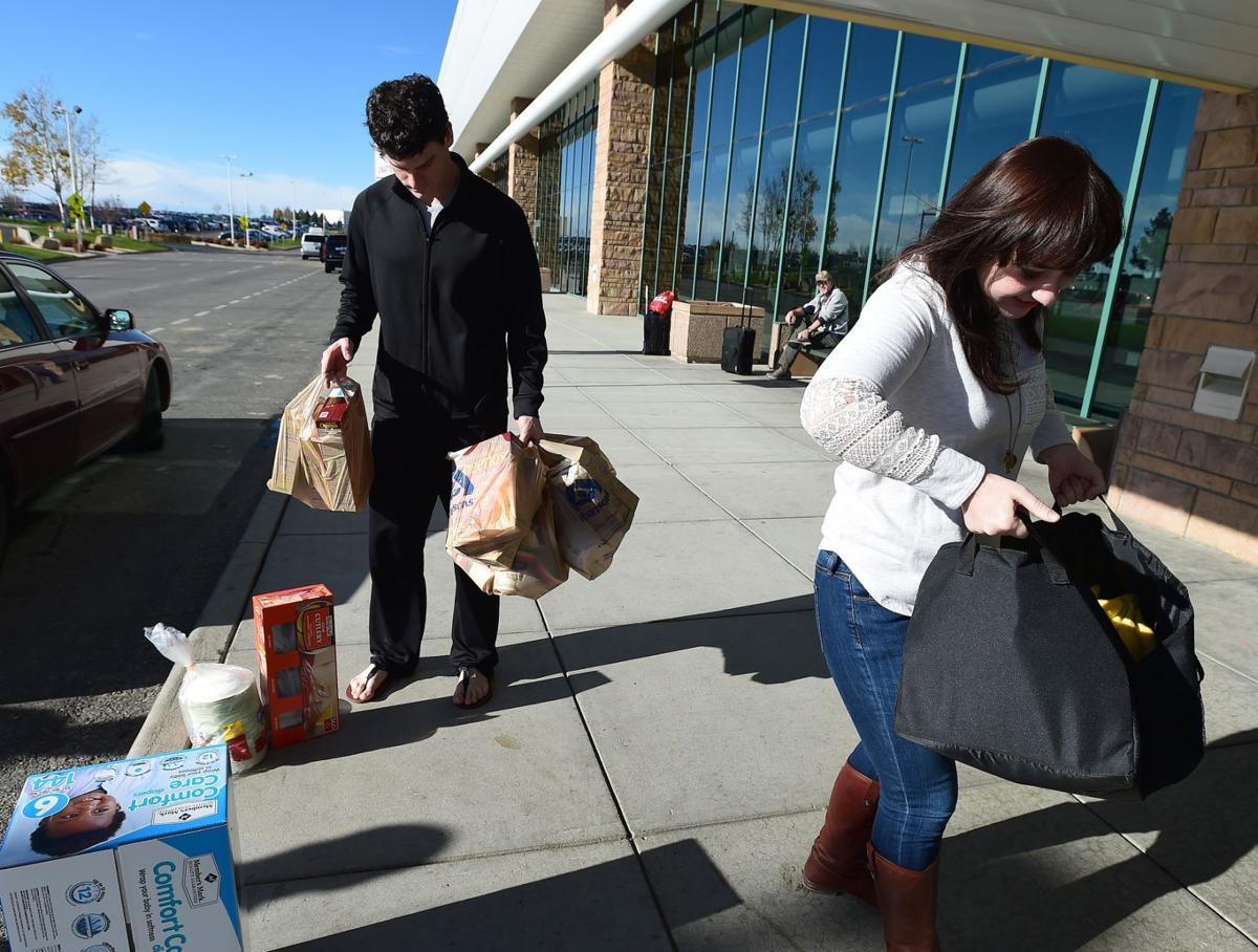 Kat Healy delivers food