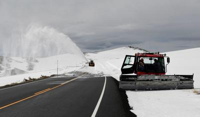 Crew clears 40-foot drifts on Beartooth Highway toward Yellowstone