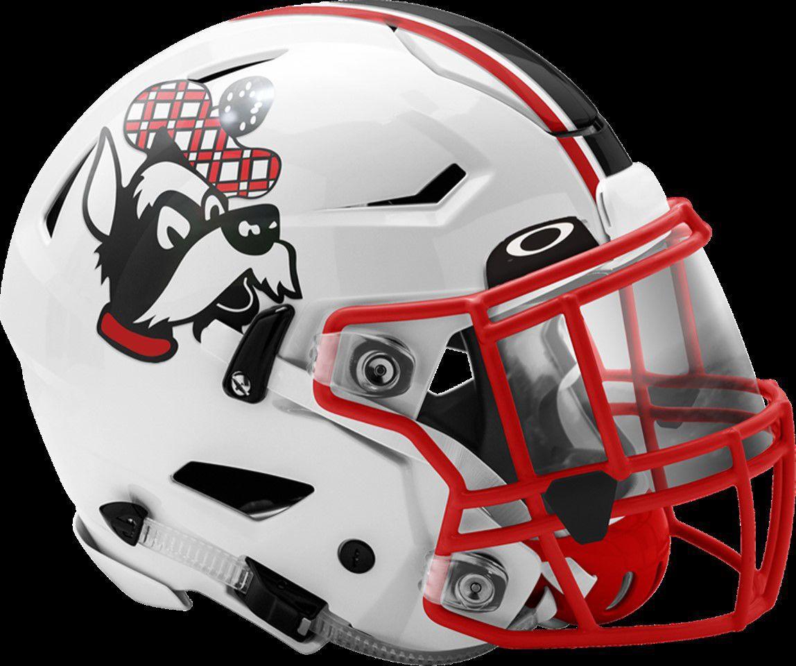 Glasgow Scotties football helmet