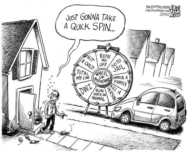 May cartoon: Drunk driving